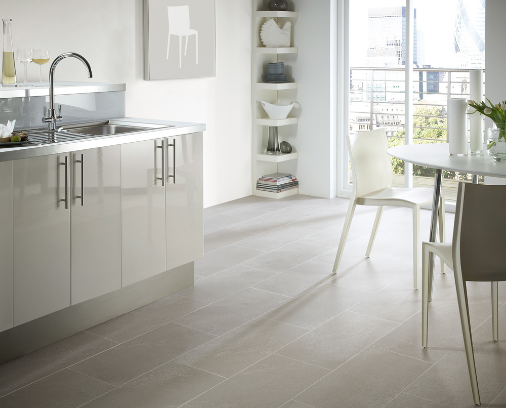 Limestone Flooring For Kitchens In Grey Tones
