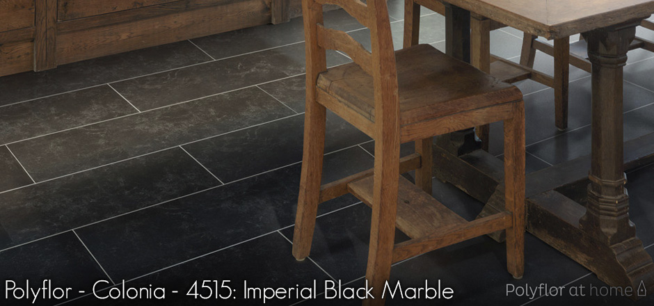 Polyflor - Colonia - 4515: Imperial Black Marble